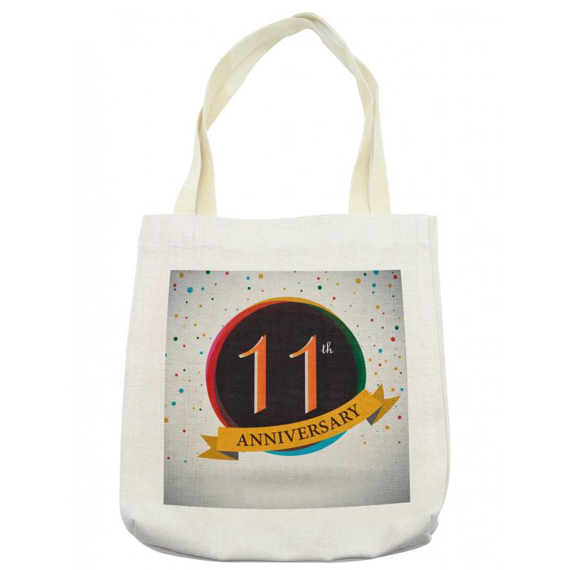 11 Year Retro Style Tote Bag
