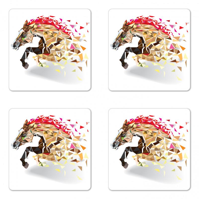 Abstract Art Wild Horse Coaster Set Of Four