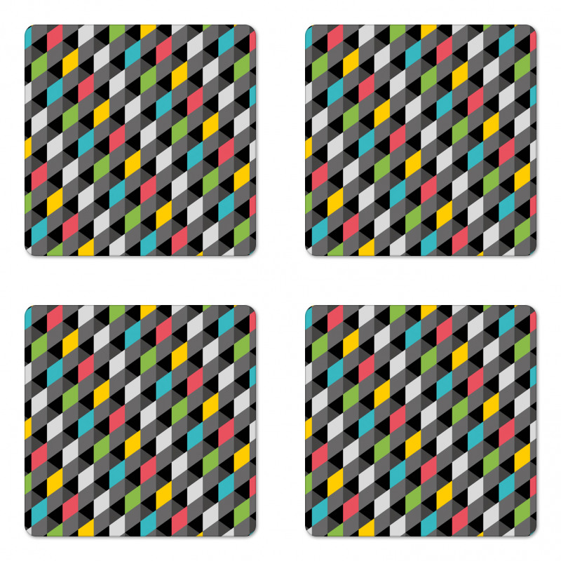 Abstract Art Style Coaster Set Of Four