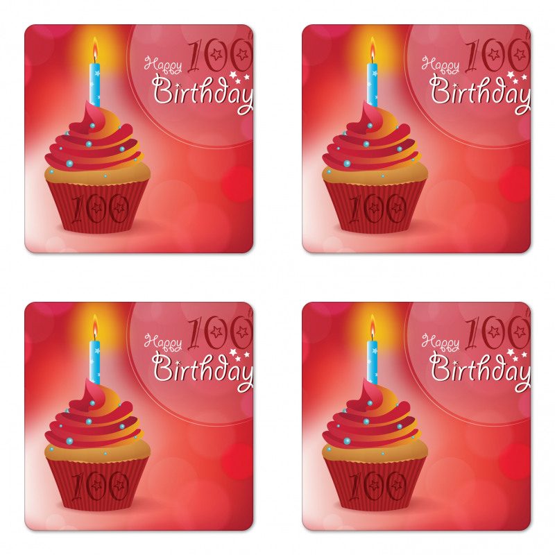 100 Old Cupcake Coaster Set Of Four
