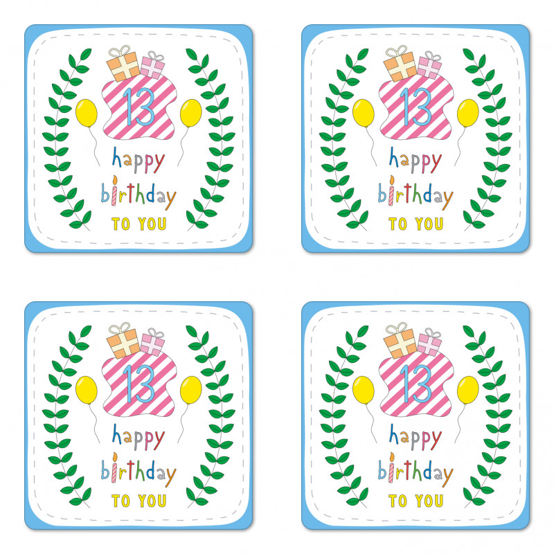 13th Birthday Gifts Coaster Set Of Four