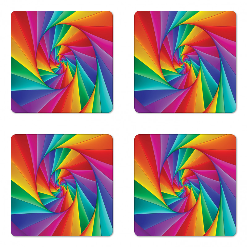 Abstract Art Vivid Swirl Coaster Set Of Four