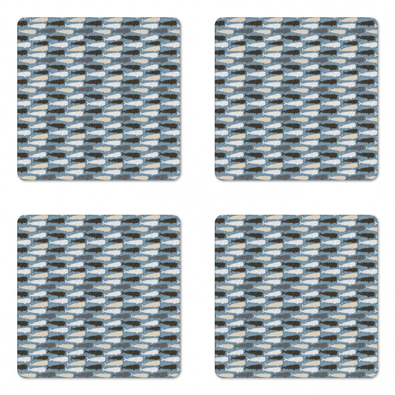 Abstract Art Silhouettes Coaster Set Of Four