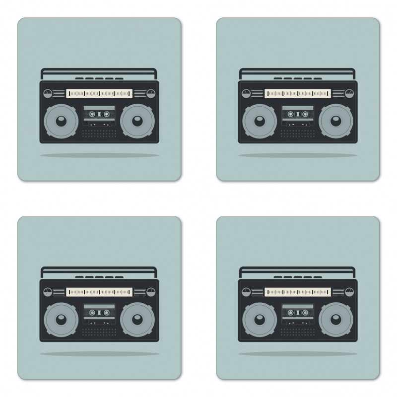 1980s Boombox Image Coaster Set Of Four