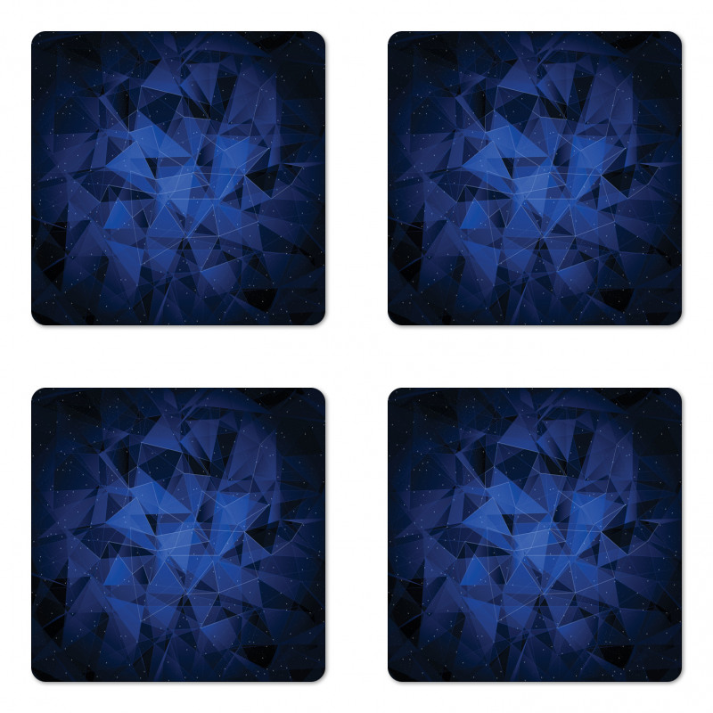 Abstract Atomic Stars Coaster Set Of Four