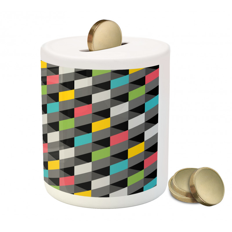 Abstract Art Style Piggy Bank