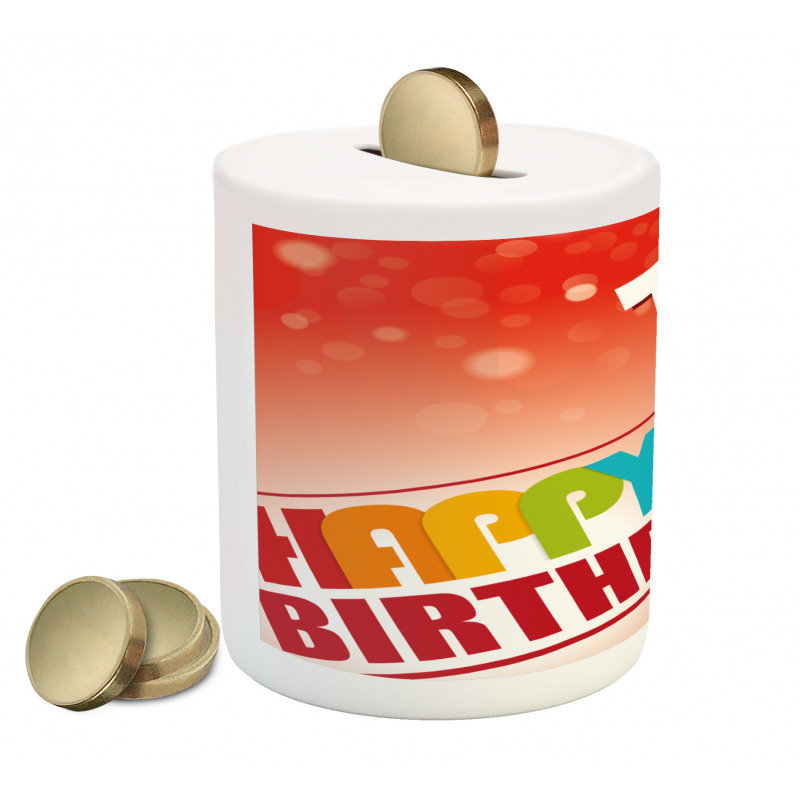 15th Birthday Concept Piggy Bank