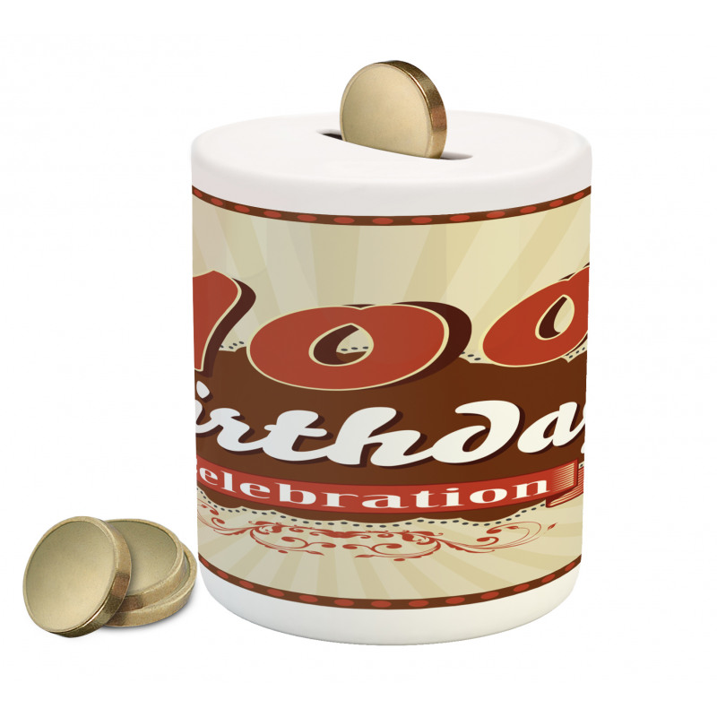 100 Old Party Invite Piggy Bank