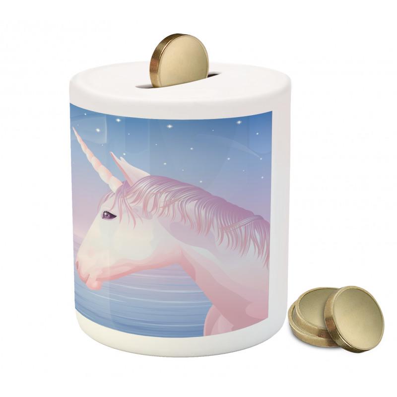 2 Akhal Teke Unicorns Piggy Bank