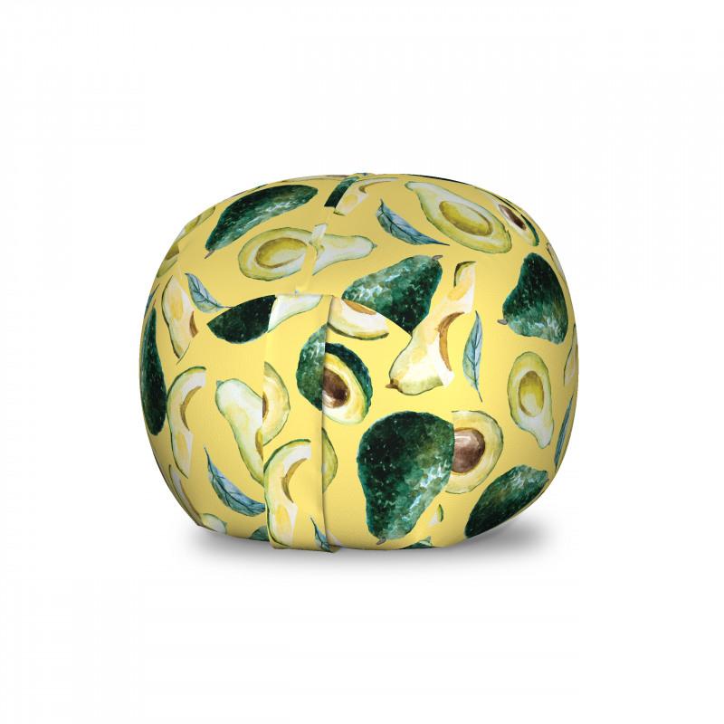 Avokado Pelüş Oyuncak Çuvalı Sulu Boya Tarzında Çizilmiş Sağlıklı Meyve