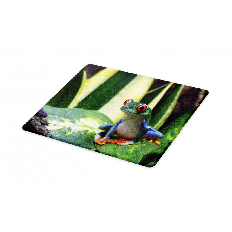 Exotic Vivid Animal on Leaf Cutting Board