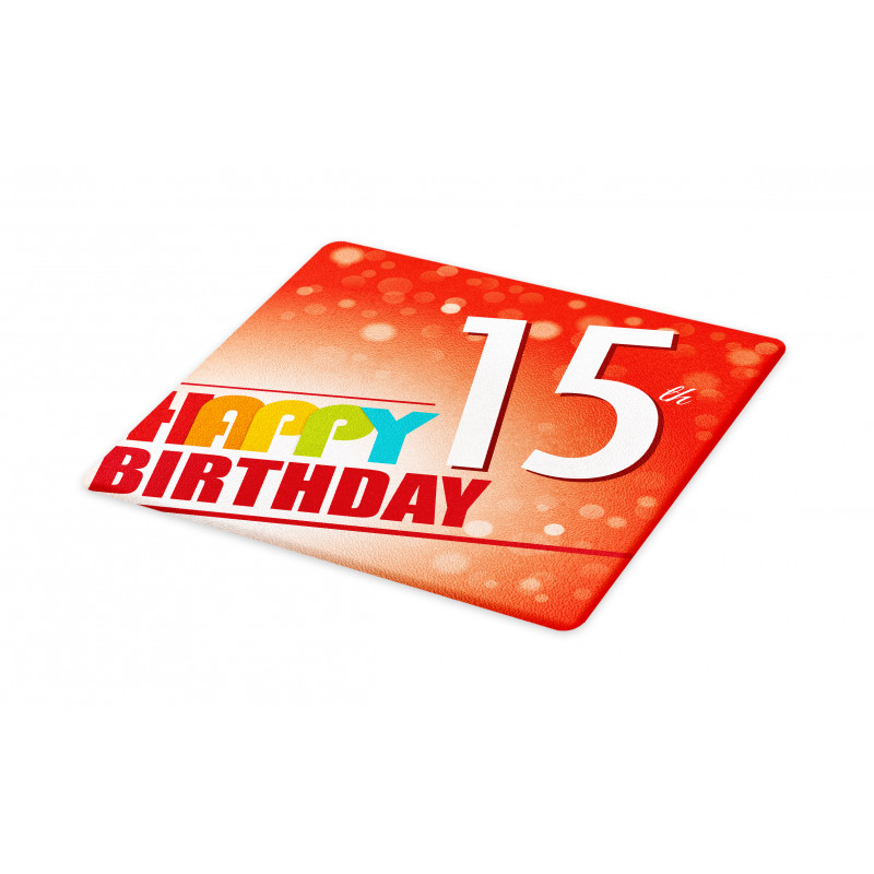 15th Birthday Concept Cutting Board