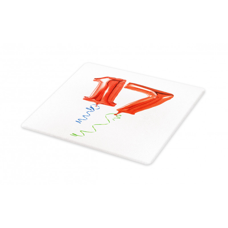 17 Party Red Balloons Cutting Board