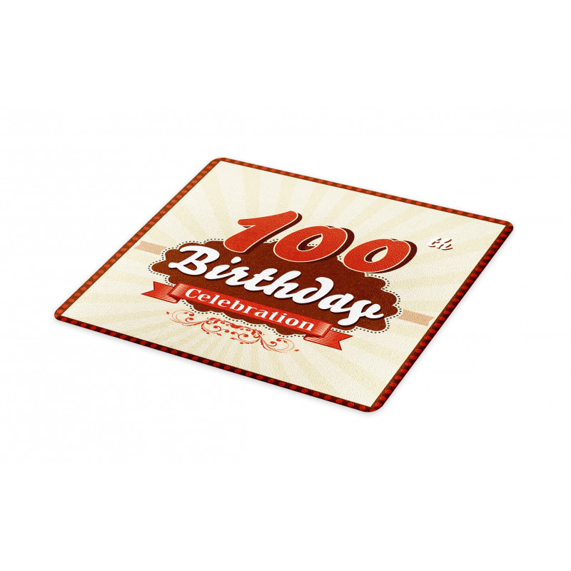 100 Old Party Invite Cutting Board