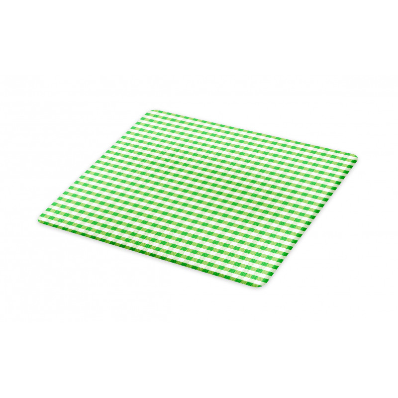 Green White Gingham Cutting Board