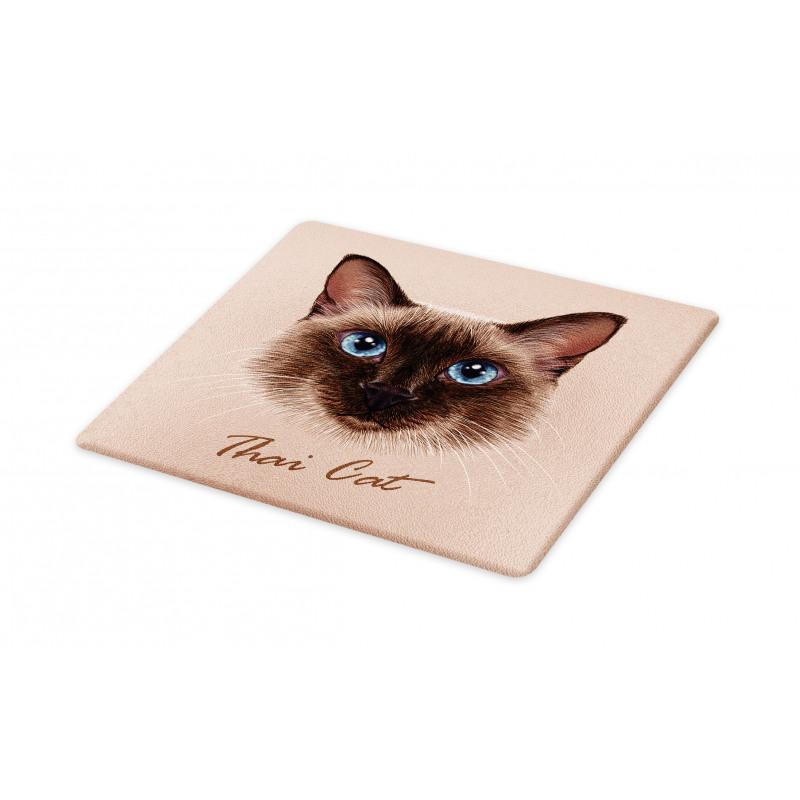 Domestic Animal Siamese Cat Cutting Board