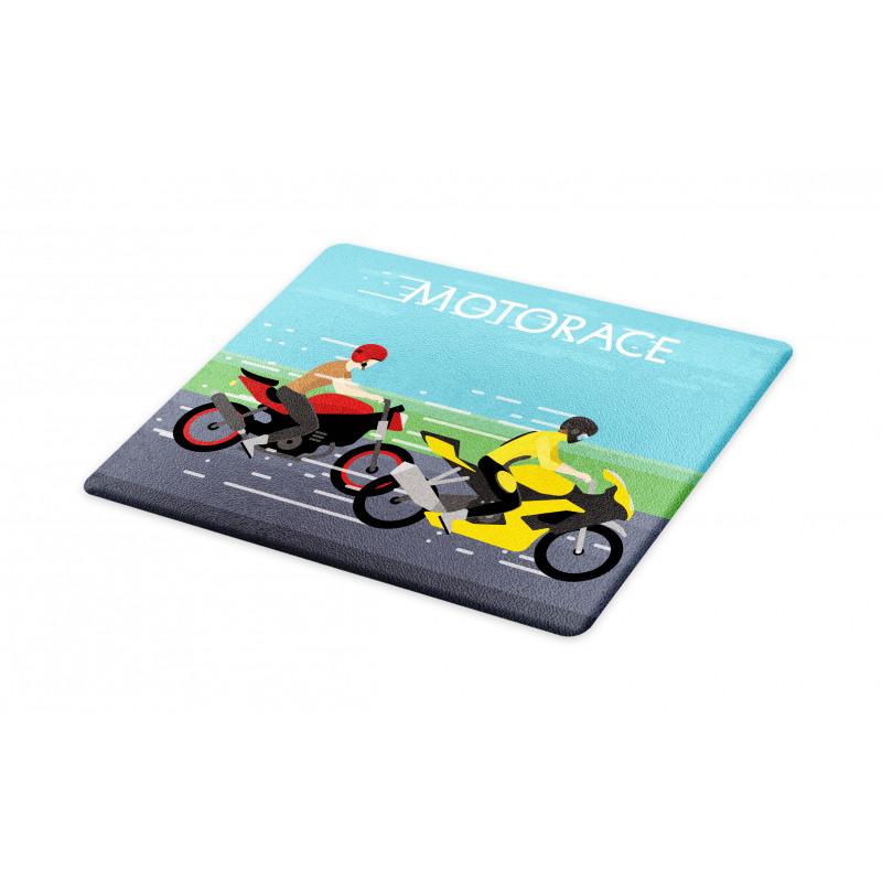 2 Bikers Racing Cutting Board