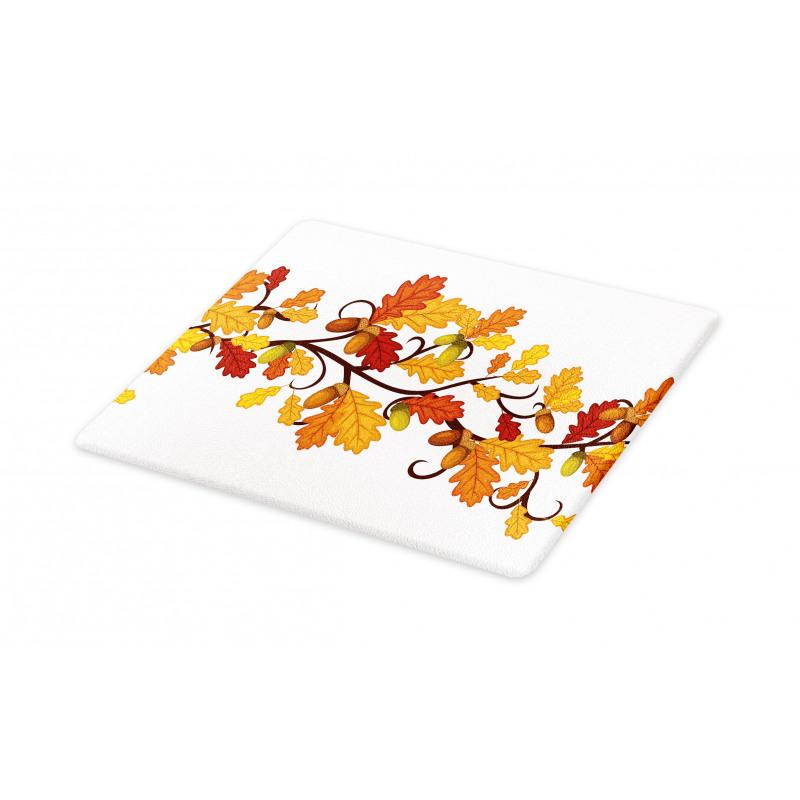 Autumn Oak Leaves and Acorns Cutting Board