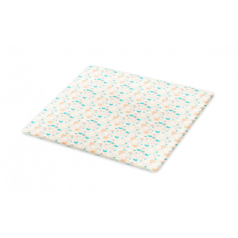 Abstract Art Floral Doodle Cutting Board