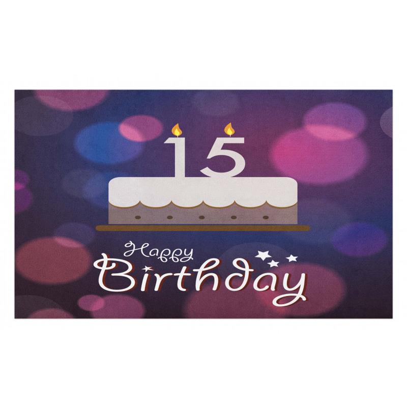 15 Birthday Cake Doormat