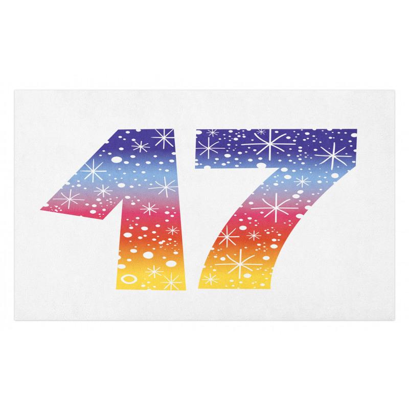 17 Party Doormat