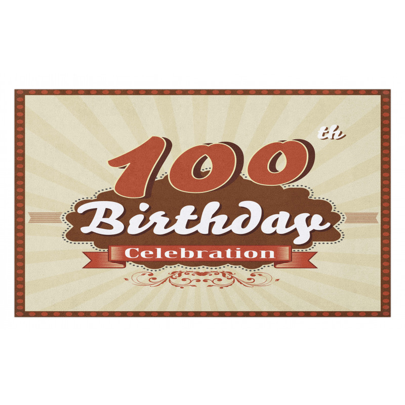 100 Old Party Invite Doormat