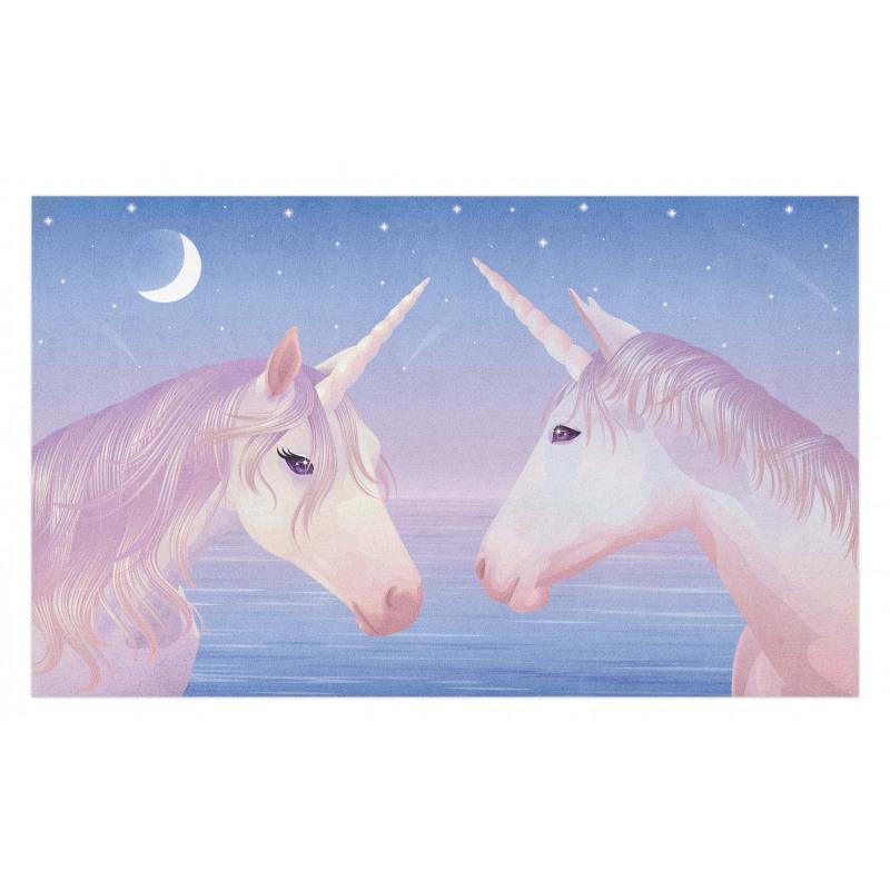 2 Akhal Teke Unicorns Doormat
