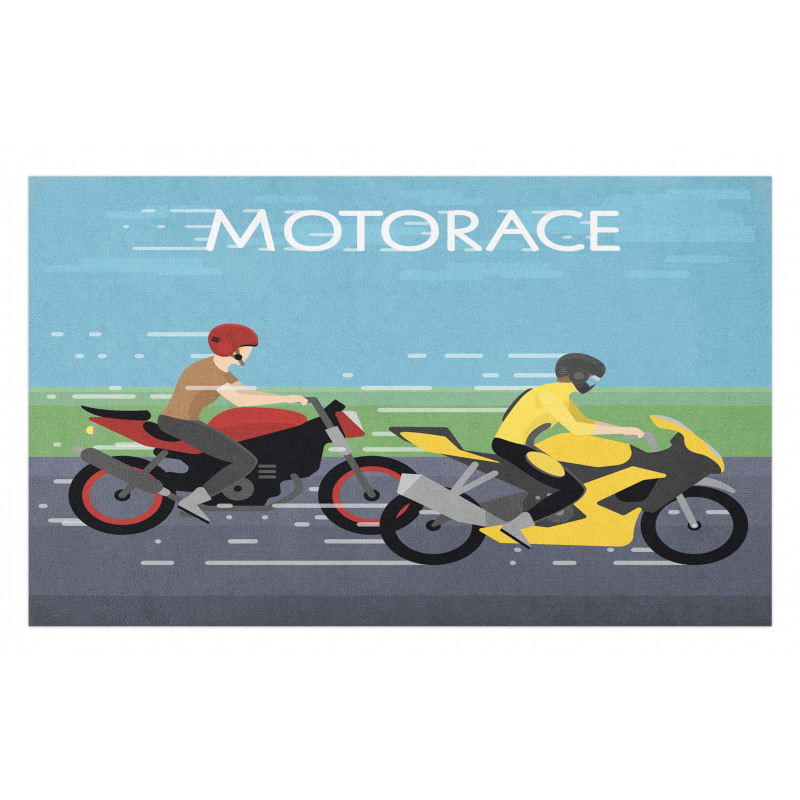 2 Bikers Racing Doormat