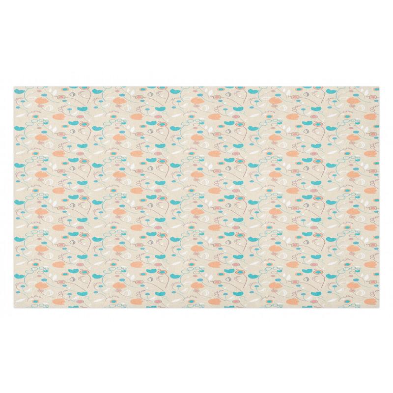 Abstract Art Floral Doodle Doormat