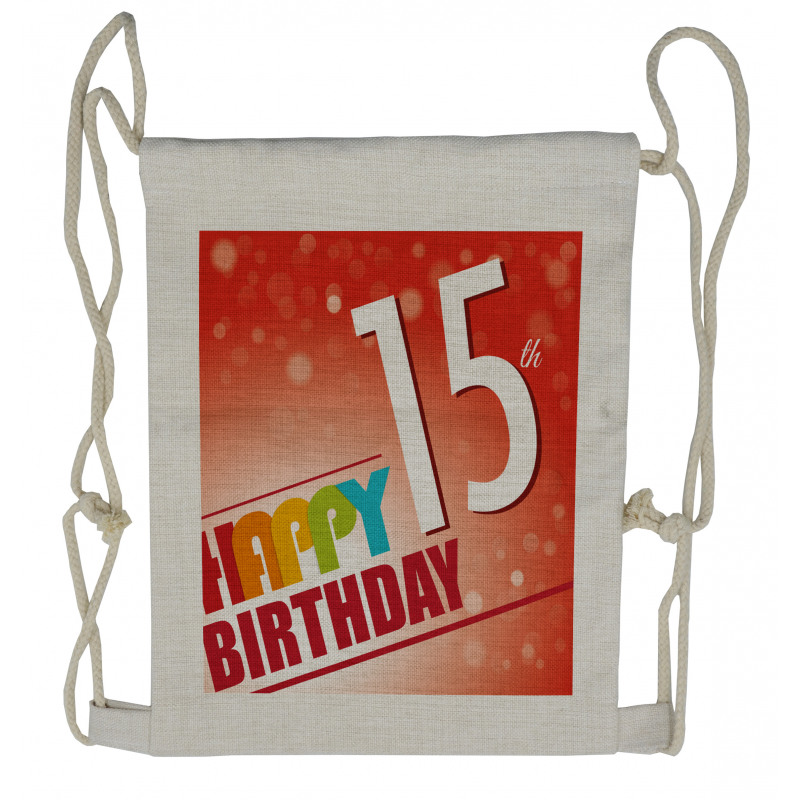 15th Birthday Concept Drawstring Backpack