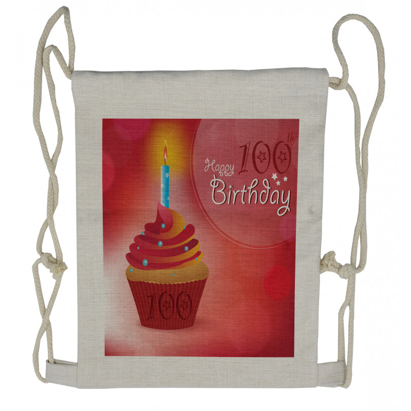 100 Old Cupcake Drawstring Backpack