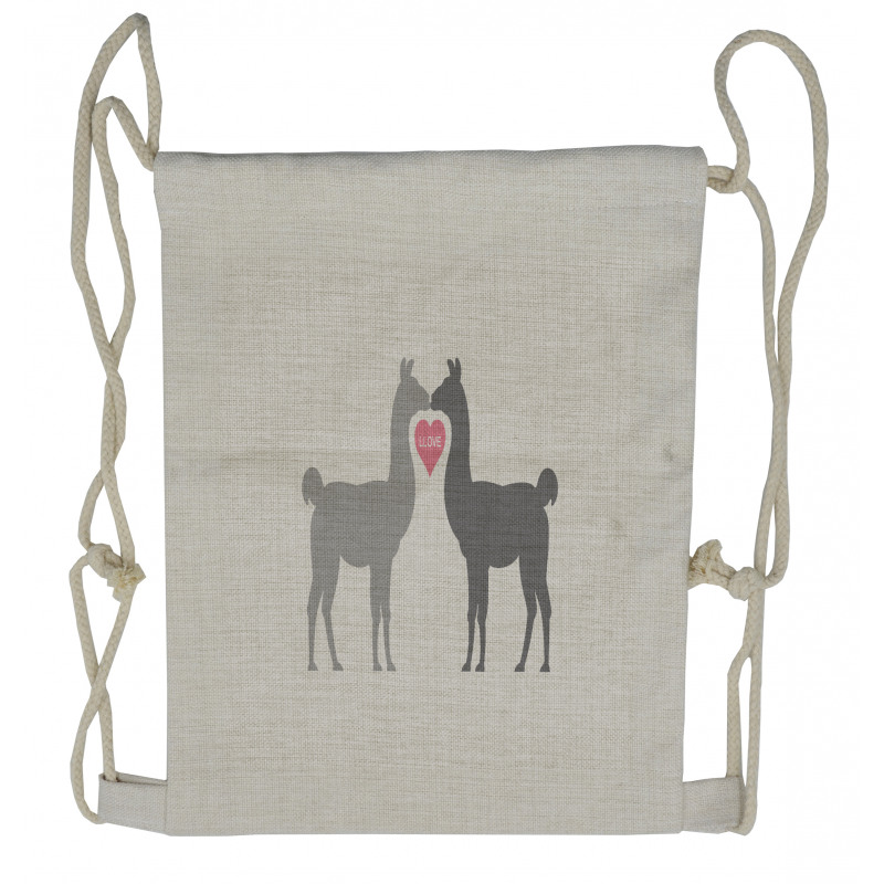 2 Animals in Love Drawstring Backpack