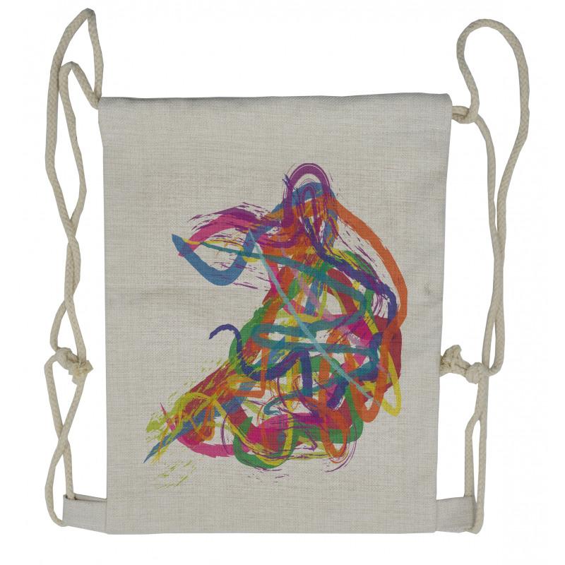 Abstract Art Dancer Drawstring Backpack