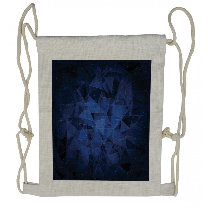 Abstract Atomic Stars Drawstring Backpack
