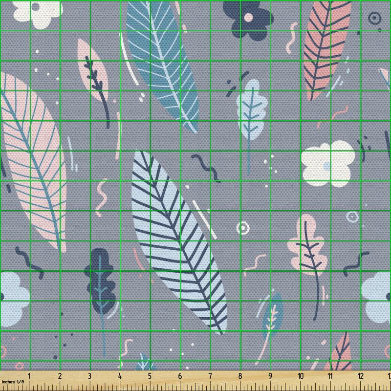 Ada Parça Kumaş Basit Çiçekler ve Tropikal Yaprak Tasarımlar