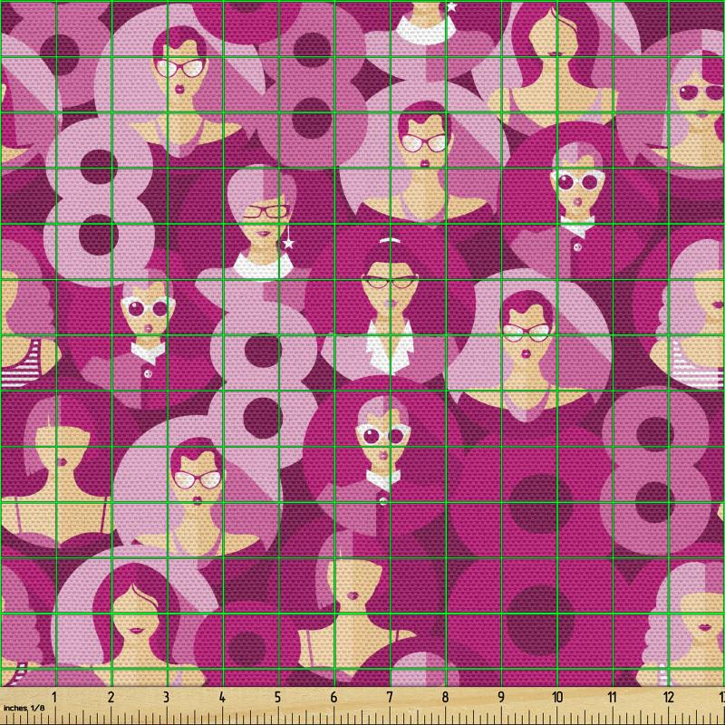 8 Mart Parça Kumaş Dünya Kadınlar Günü Temalı Feminen Tasarım