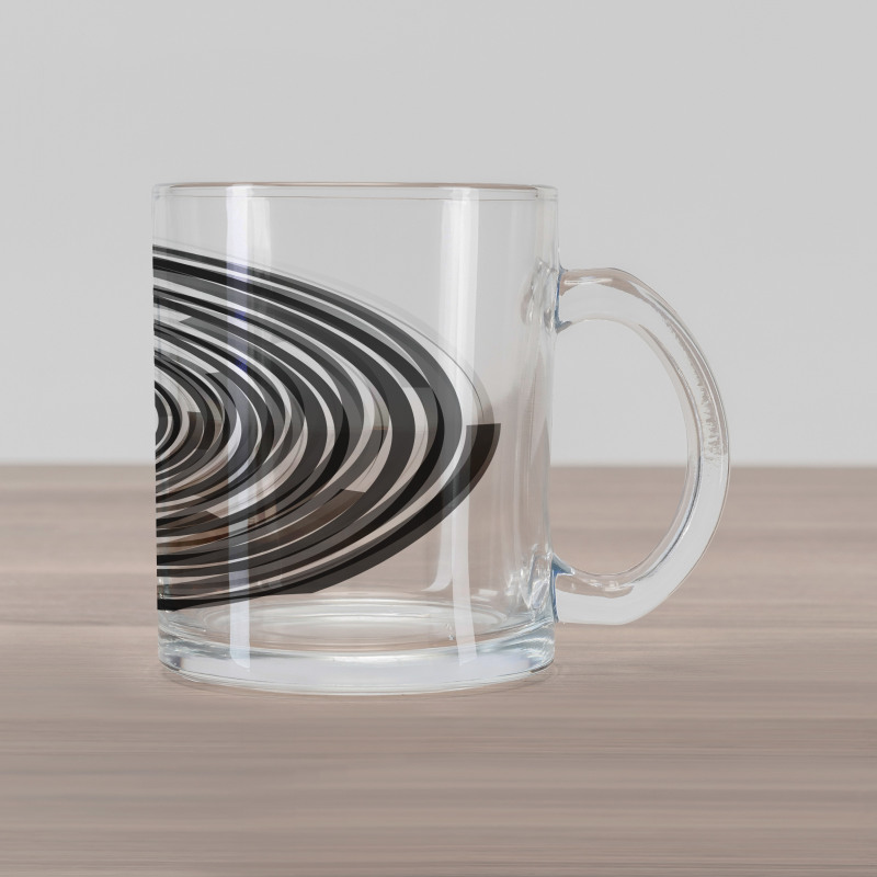 Abstract Art Spirals Glass Mug