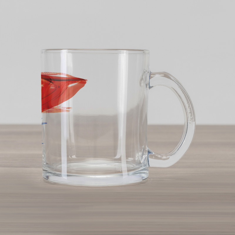 17 Party Red Balloons Glass Mug