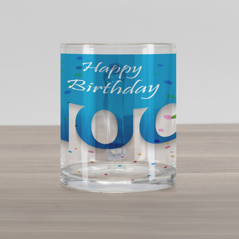 100 Years Birthday Glass Mug