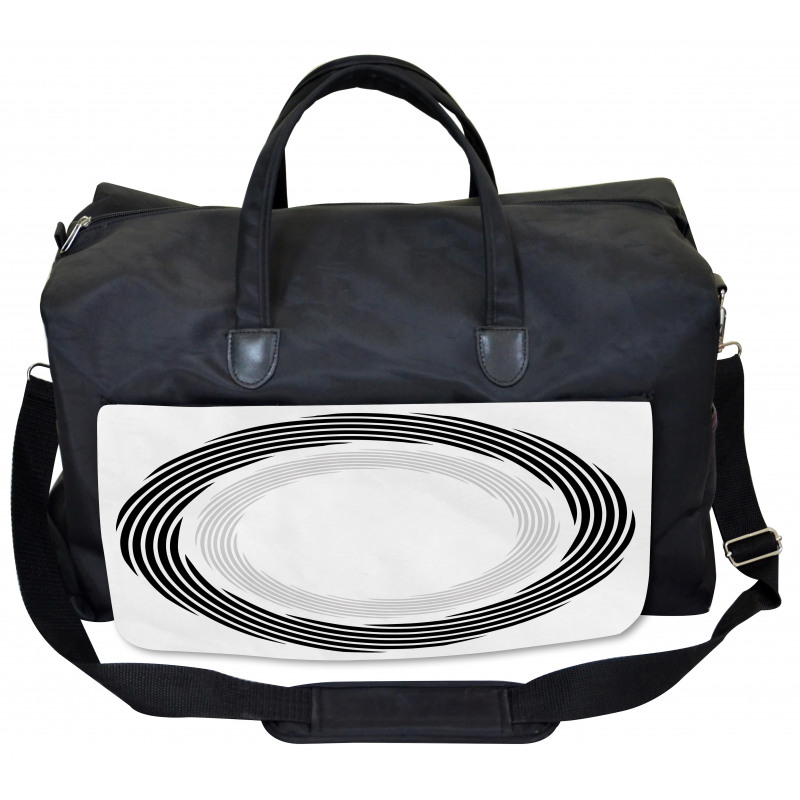 Abstract Art Theme White Gym Bag