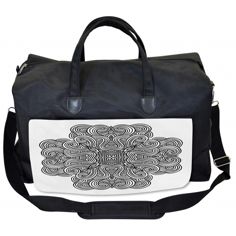 Large Weekender Carry-on Retro Bohemian Ombre Ambesonne Mandala Gym Bag