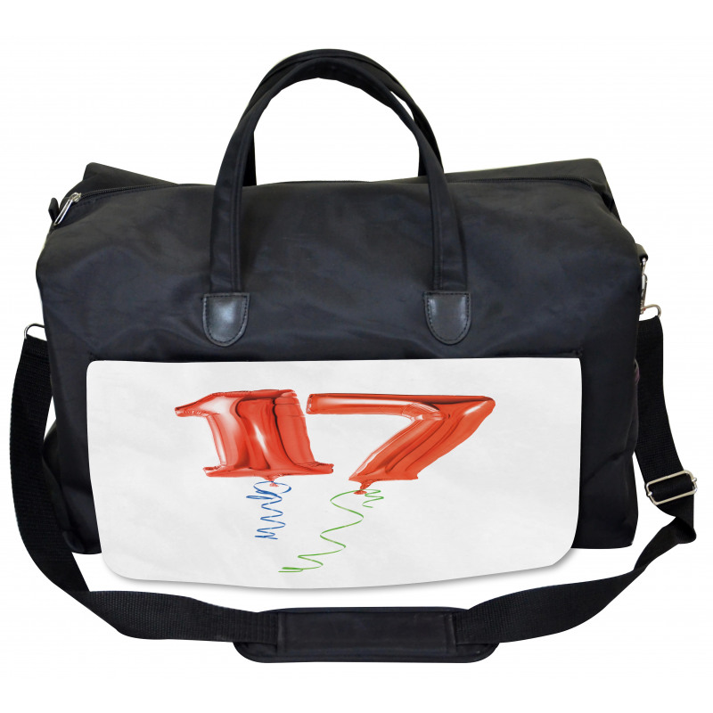 17 Party Red Balloons Gym Bag