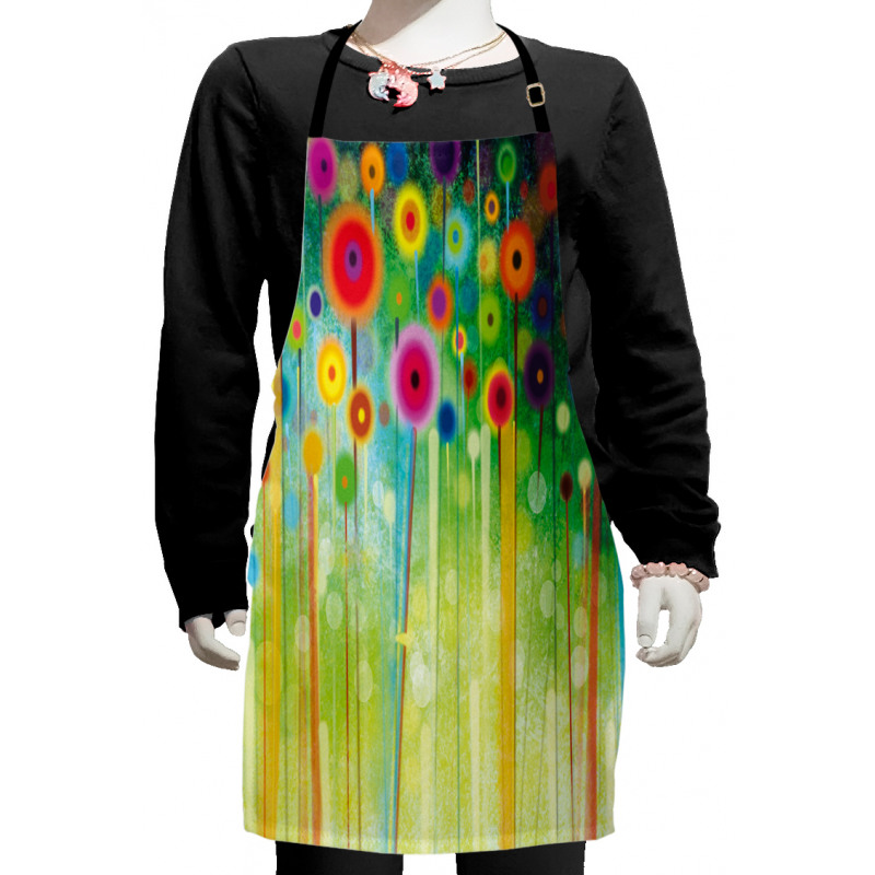 Abstract Art Dandelion Kids Apron