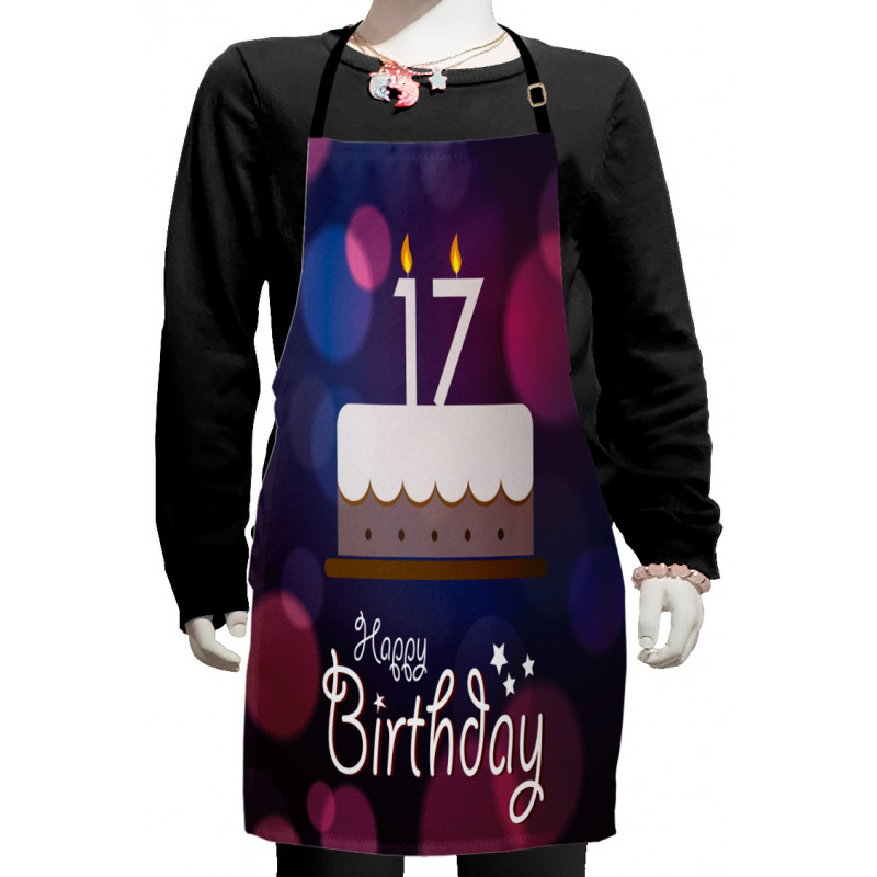 17 Party Cake Kids Apron