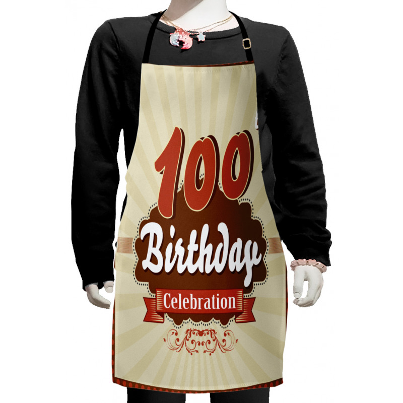 100 Old Party Invite Kids Apron