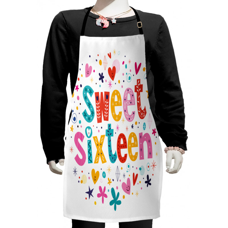 16 Blossoms Kids Apron