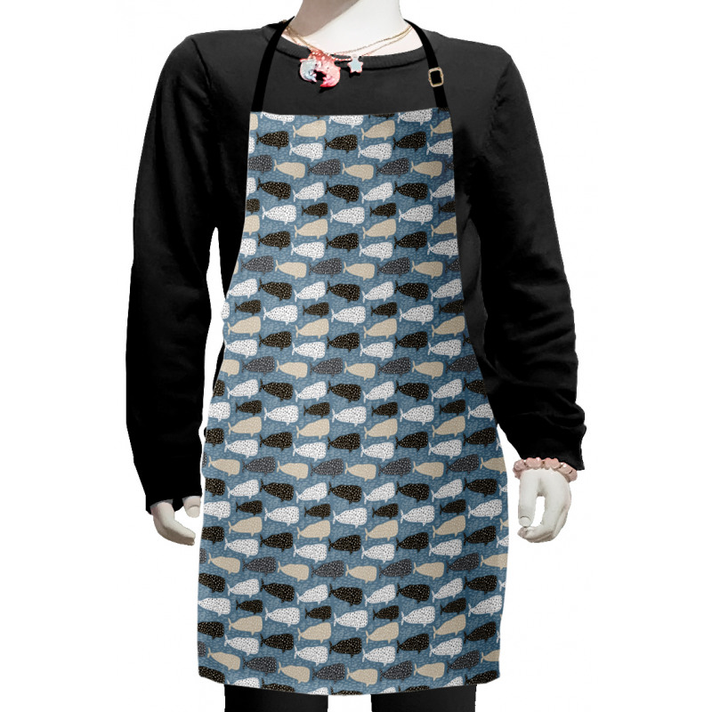 Abstract Art Silhouettes Kids Apron