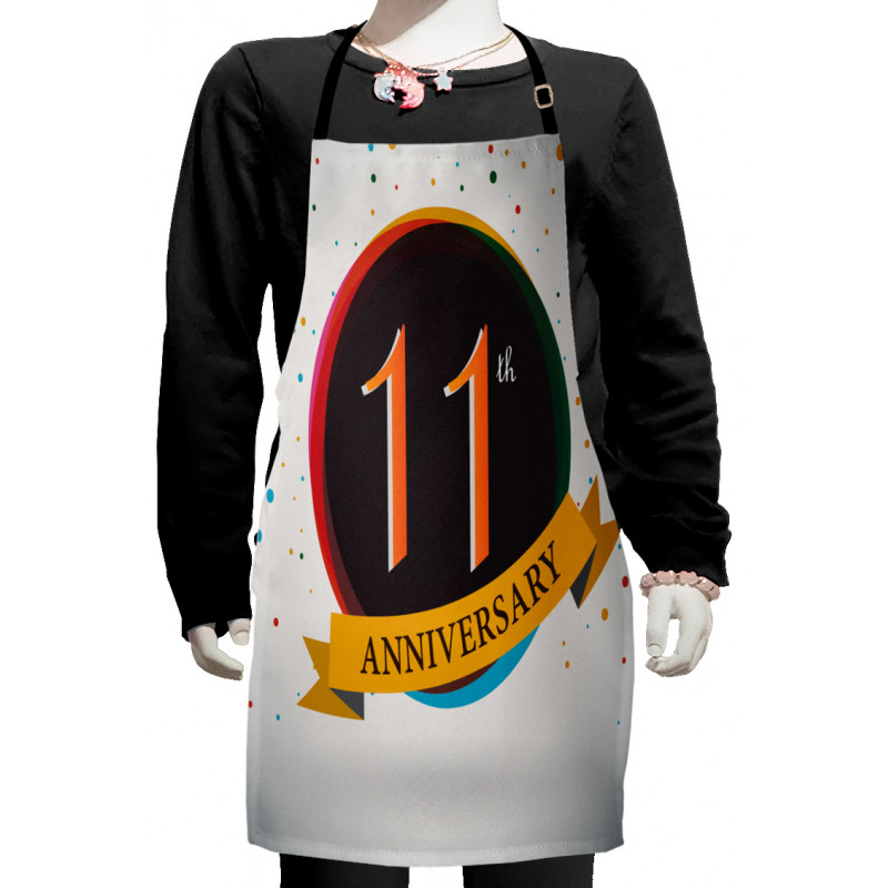 11 Year Retro Style Kids Apron