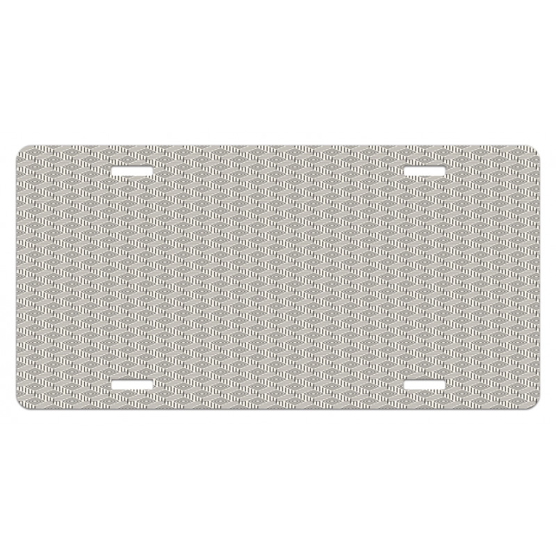 Abstract Art Grid License Plate