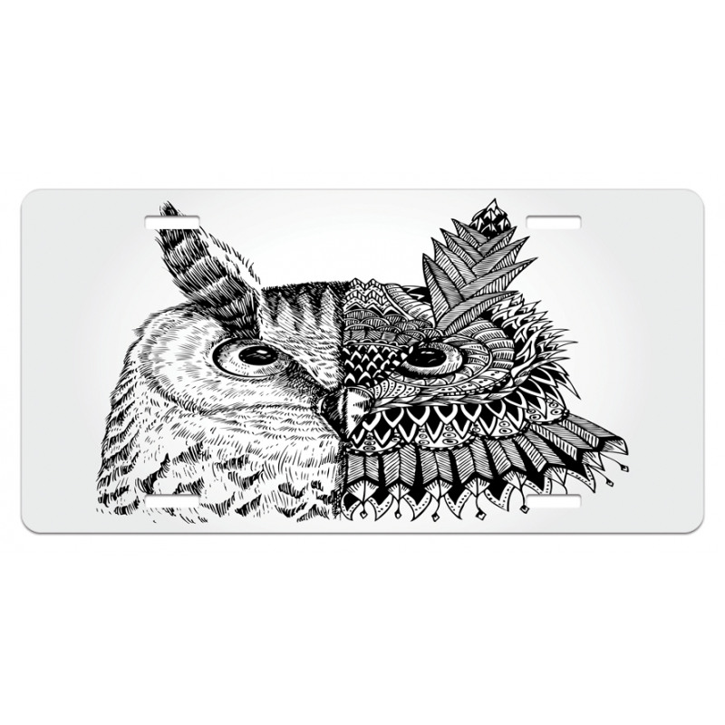 2 Animal Faces Design License Plate
